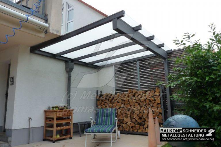 Terrassendach mit 1 Stütze
