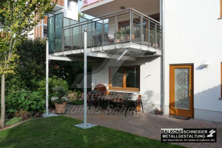 Stützen sollen nicht stören? Kein Problem einer Balkonvergrößerung der Thomas Schneider GmbH.