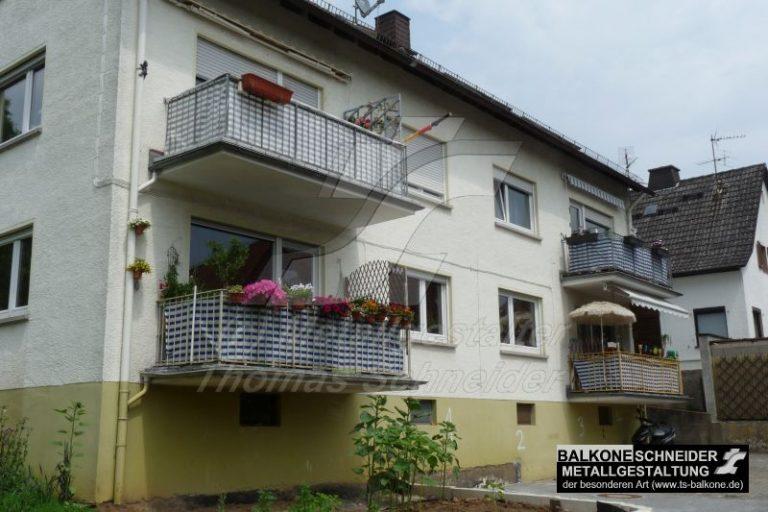 Balkone aus Beton besitzen keine thermische Trennung zum Haus.