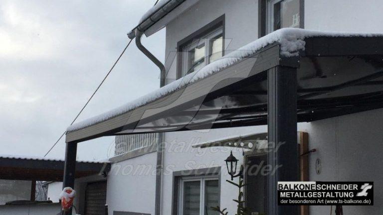 Aluminium-Dach - Durchbiegung bei 5cm Schnee!